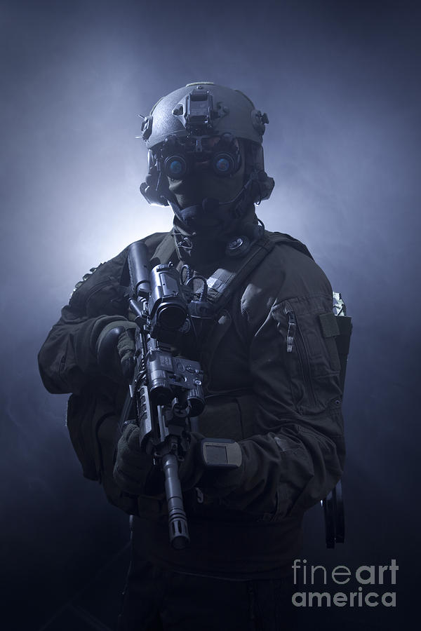 Special Operations Forces Photograph - Special Operations Forces Soldier by Tom Weber