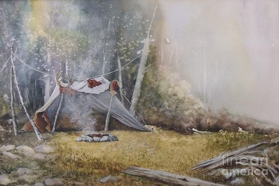 Camp Site Painting - Spike Camp by Lynne Parker