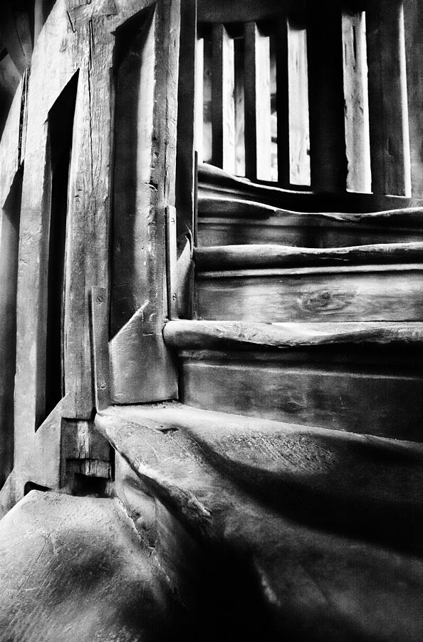 Stairs Photograph - Spiral Staircase by John  Bartosik