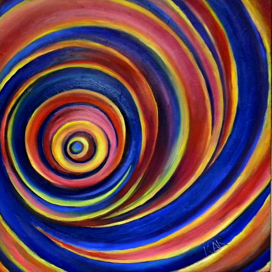 Spiral Painting - Spirals by Art by Kar