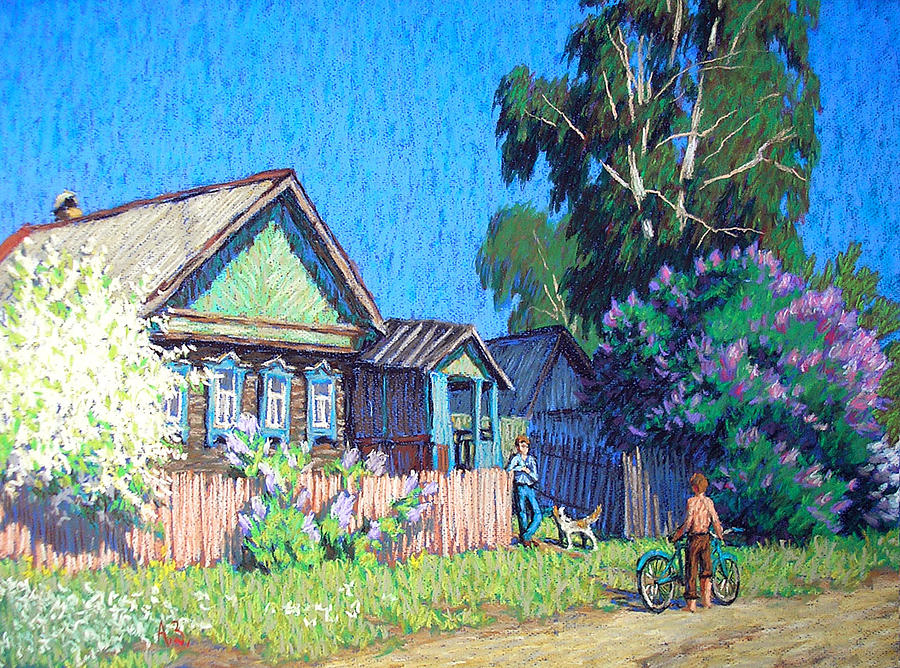Graphic Arts Pastel - Spring by Aleksey Zuev