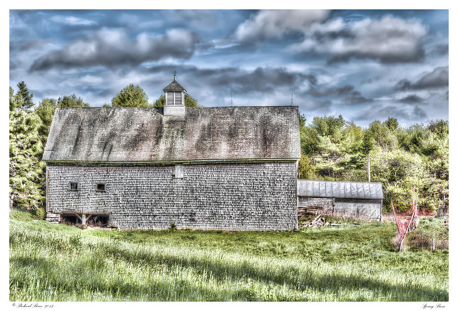 Architecture Photograph - Spring Barn by Richard Bean