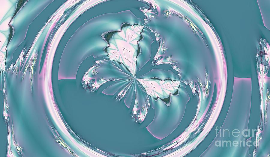 Elegant Digital Art - Spring Butterfly by Design Windmill