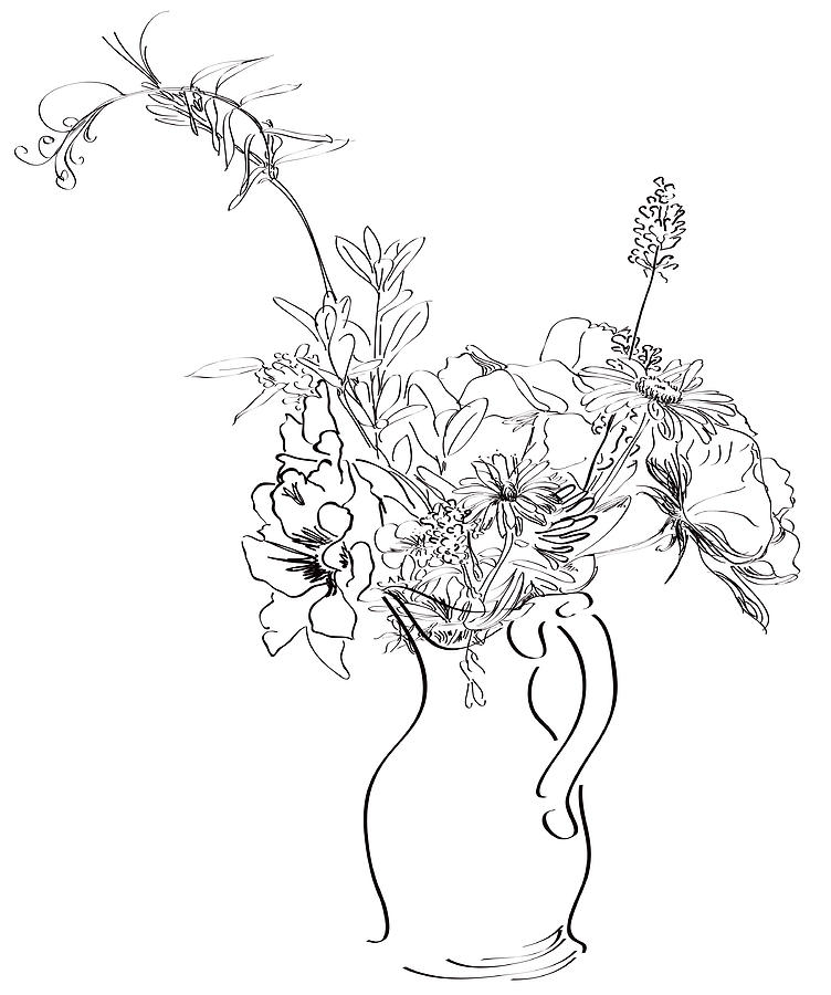 Spring Digital Art - Spring Flowers by Jo Ann Snover