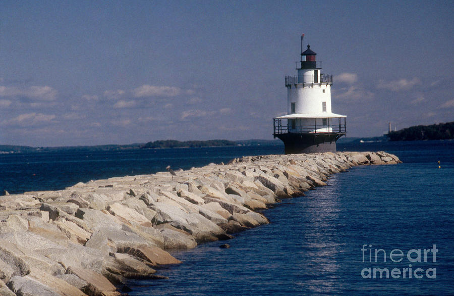 Lighthouse Photograph - Spring Point Ledge Lighthouse by Bruce Roberts