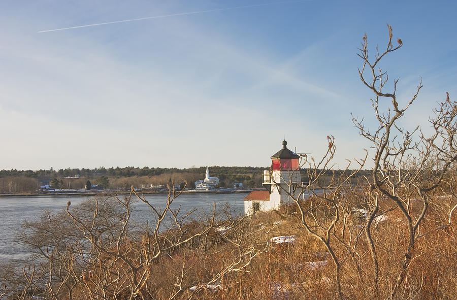 Maine Photograph - Squirrel Point Lighthouse Kennebec River Maine by Keith Webber Jr