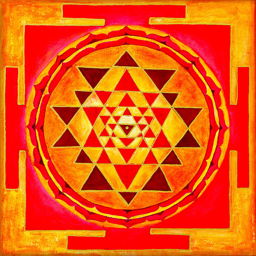 Sri Yantra For Meditation Painted