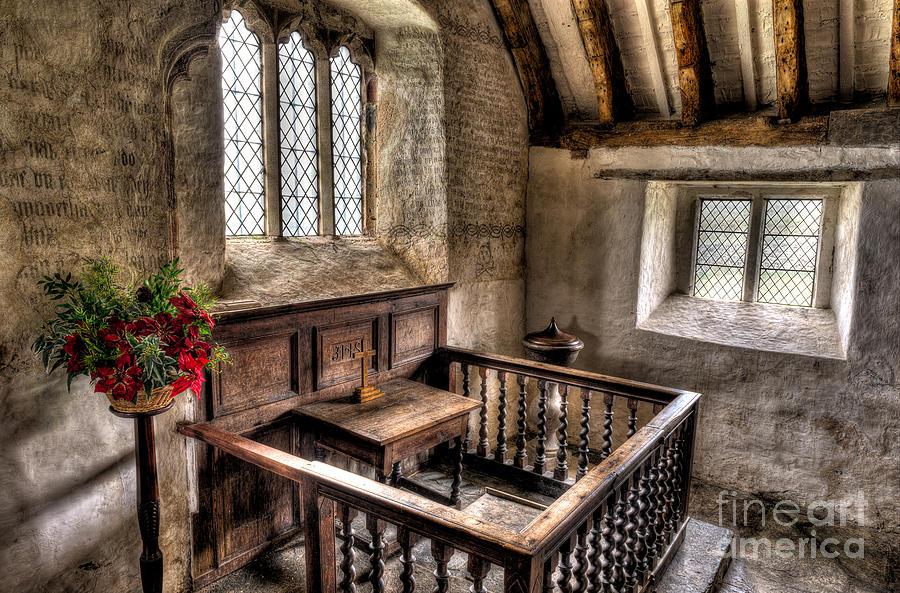 Altar Photograph - St Celynnin Church by Adrian Evans