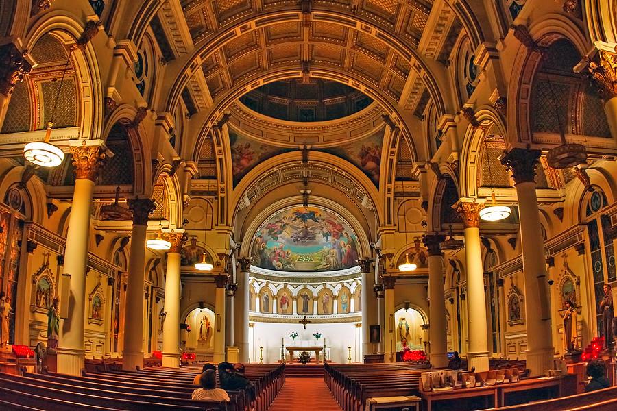 Boston Photograph - St. Leonards Church....boston by Joann Vitali