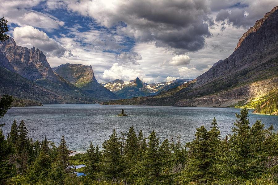 National Park Photograph - St. Marys Lake by Andrew Soundarajan
