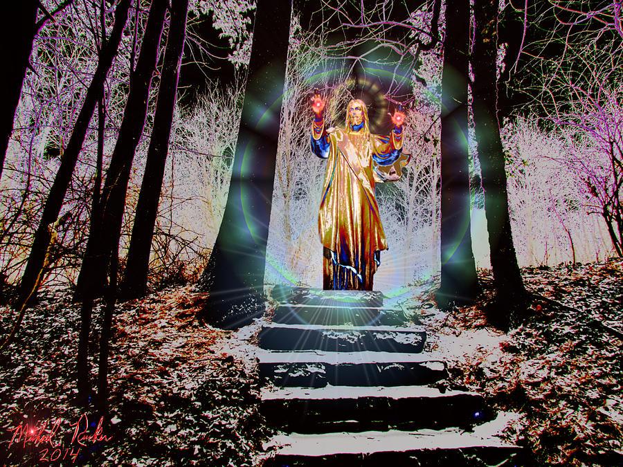 Jesus Digital Art - Stairway To Heaven by Michael Rucker