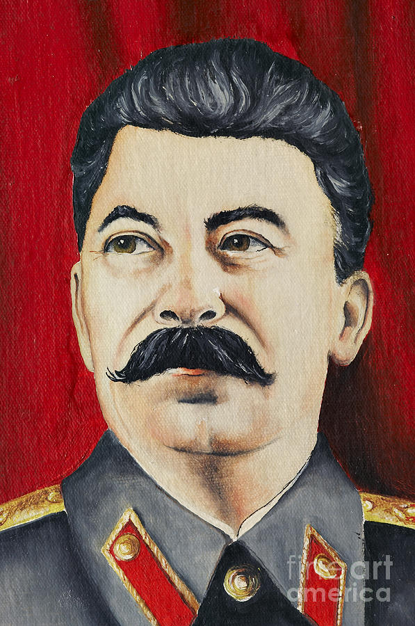 Stalin Painting - Stalin by Michal Boubin