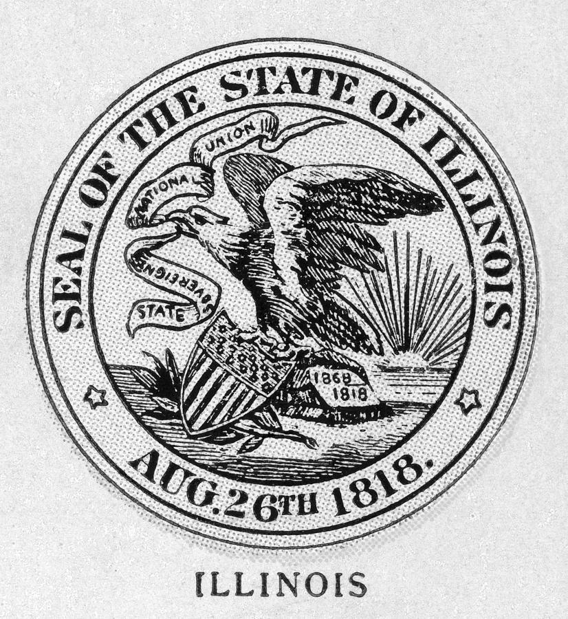 American Painting - State Seal Illinois by Granger