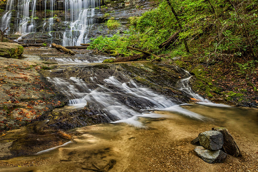Cascade Photograph - Waterfalls Edge by Chilehead Photography