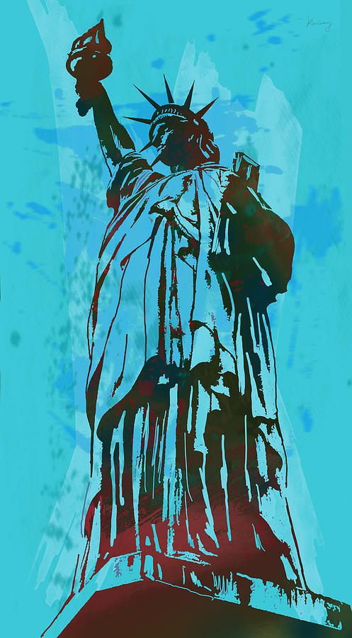 Nude Drawing - Statue Liberty - Pop Stylised Art Poster by Kim Wang