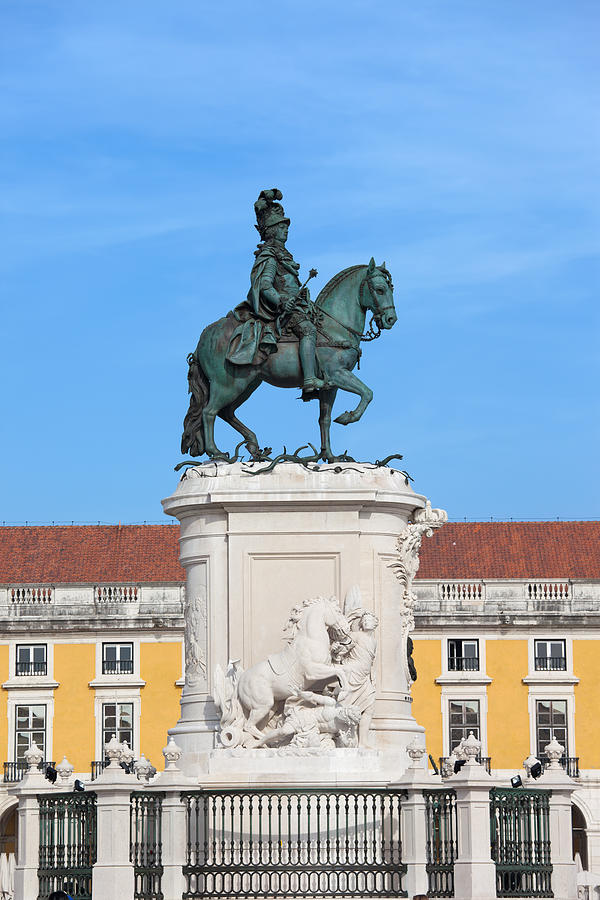 Lisbon Photograph - Statue Of King Jose I In Lisbon by Artur Bogacki