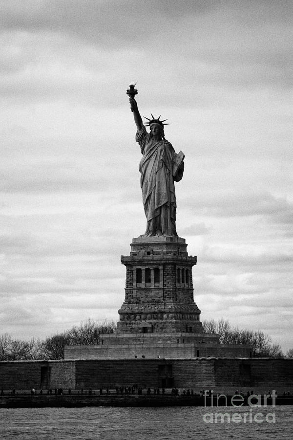 Usa Photograph - Statue Of Liberty Liberty Island New York City Usa by Joe Fox