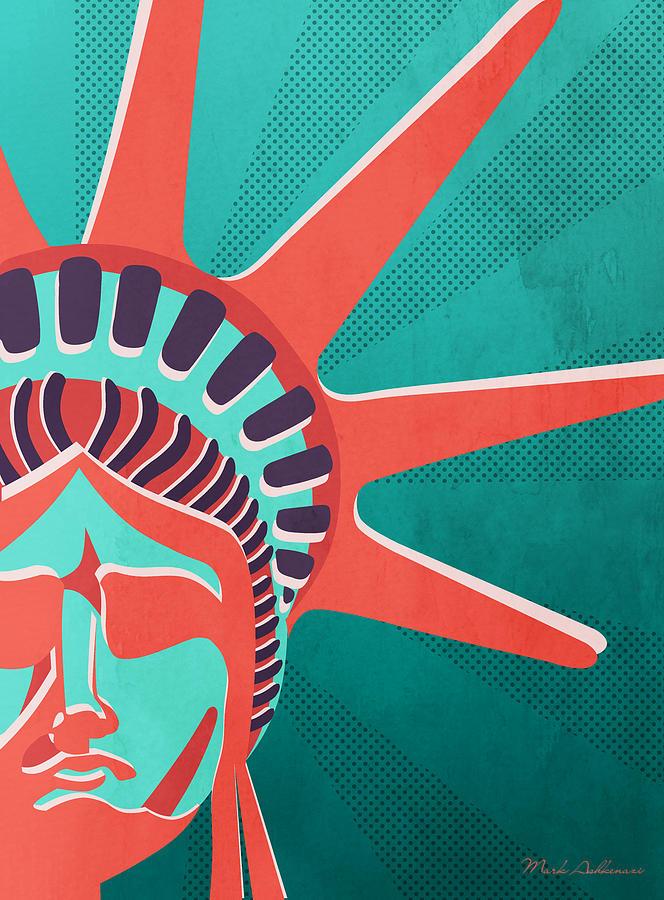 Liberty Statue Digital Art - Statue Of Liberty  by Mark Ashkenazi