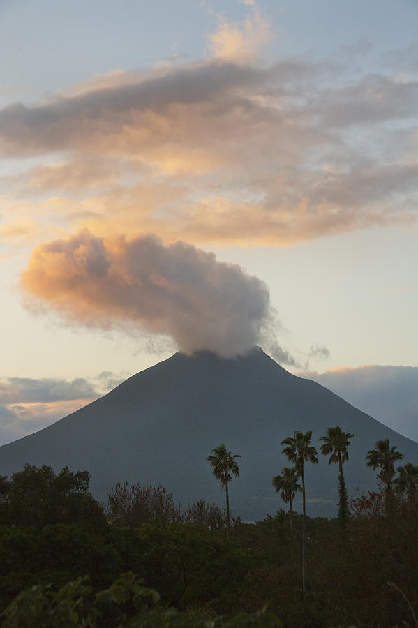 Steaming Volcano At Sunset Mount Photograph by Kevin Schafer