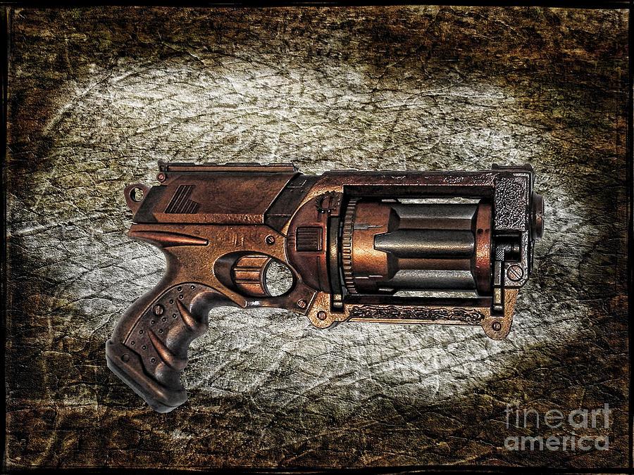 Paul Ward Photograph - Steampunk - Gun - The Multiblaster by Paul Ward