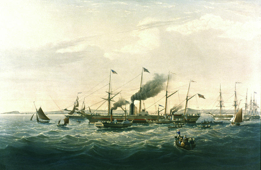 1838 Painting - Steamship by Granger