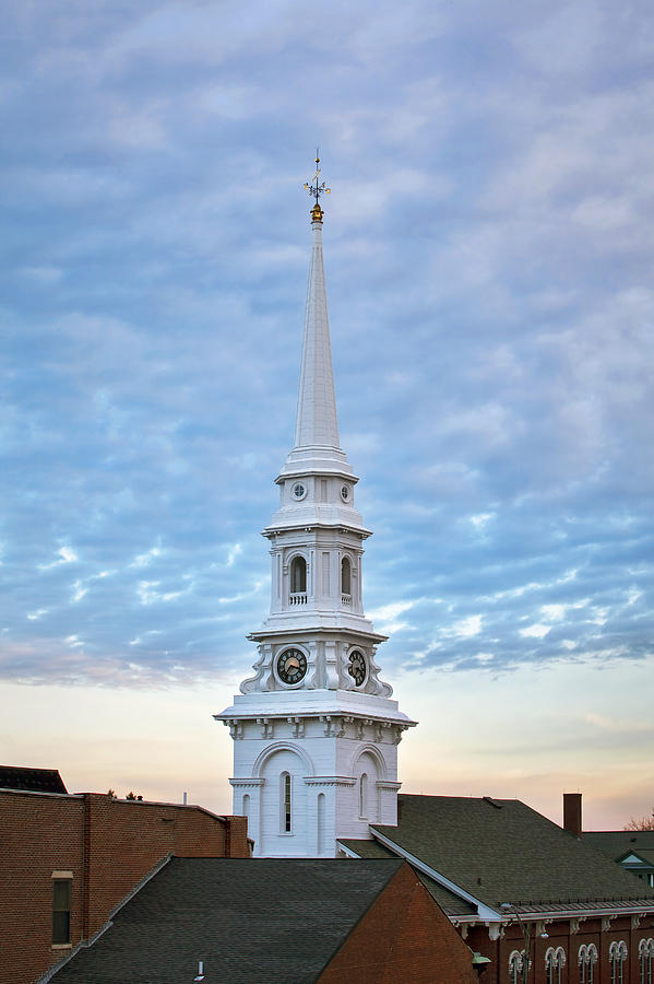 Steeple Photograph - Steeple And Rooftops by Eric Gendron