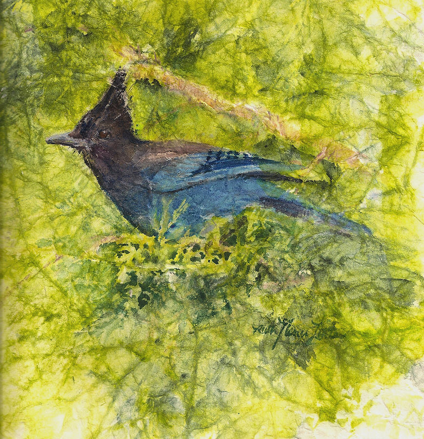 Stellar Jay Painting - Stellar Jay by Ruth Glenn Little