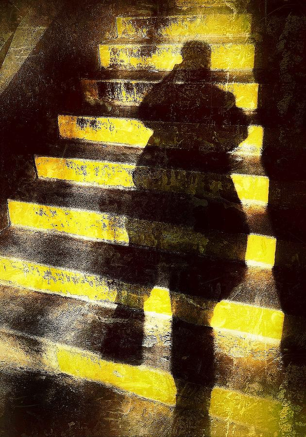 Steps With Shadow Photograph - Steps by Mark Block