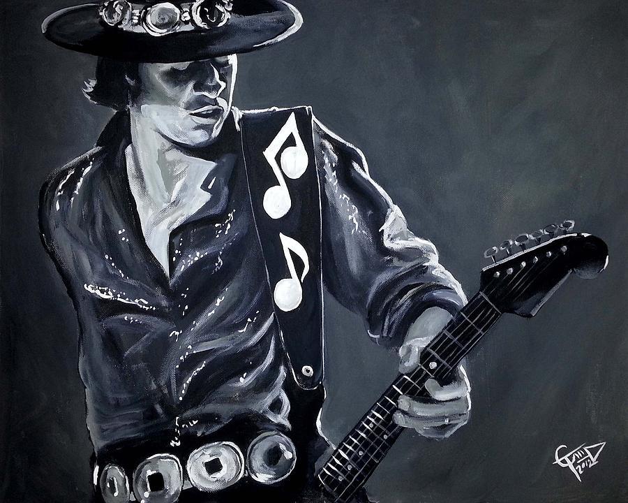 Stevie Ray Vaughan Painting - Stevie Ray Vaughan by Tom Carlton