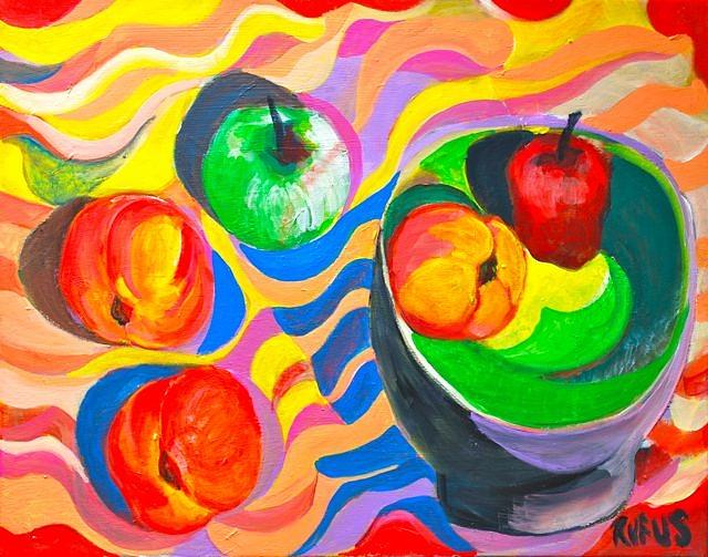 Fruit Painting - Still Life 1 by Rufus Norman