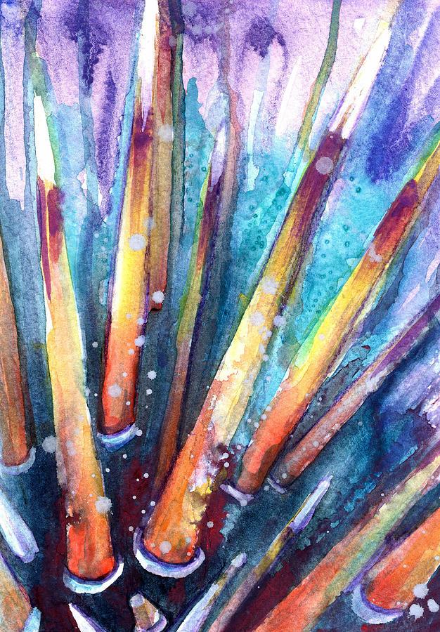 Florida Keys Painting - Spine Of Urchin by Ashley Kujan