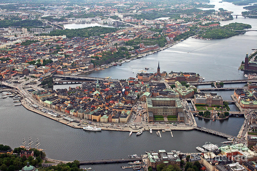 Stockholm Photograph - Stockholm Aerial View by Lars Ruecker