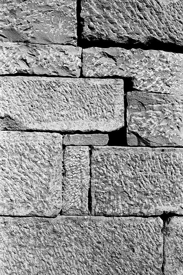 1984 Photograph - Stone Brick Wall by Jagdish Agarwal