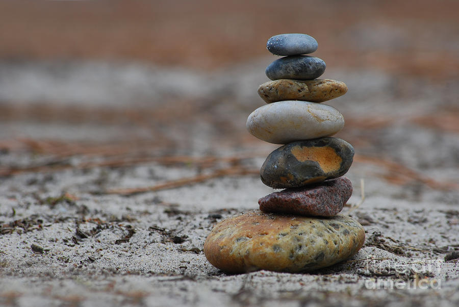 Carcan Plage Photograph - Stone Pyramide by Hannes Cmarits