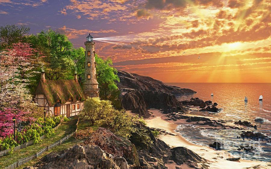 Dominic Davison Digital Art - Stoney Cove by Dominic Davison