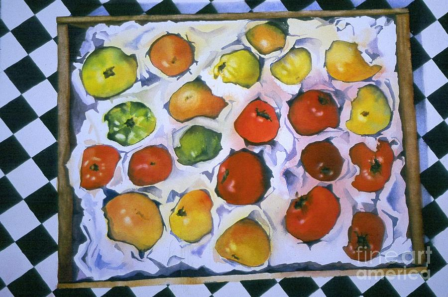 Tomatoes Painting - Stop On Red by Elizabeth Carr