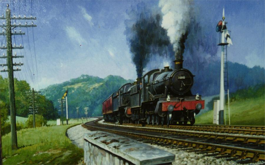 Transportation Painting - Storming Dainton by Mike Jeffries
