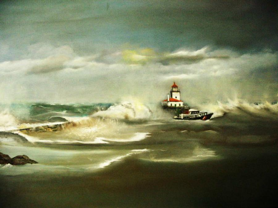 Stormy Painting by Pamela Powers