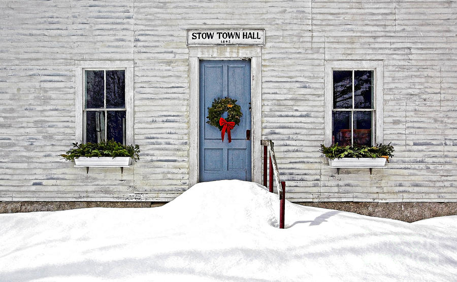 Stow Town Hall . 1842 Photograph by Thomas J Martin