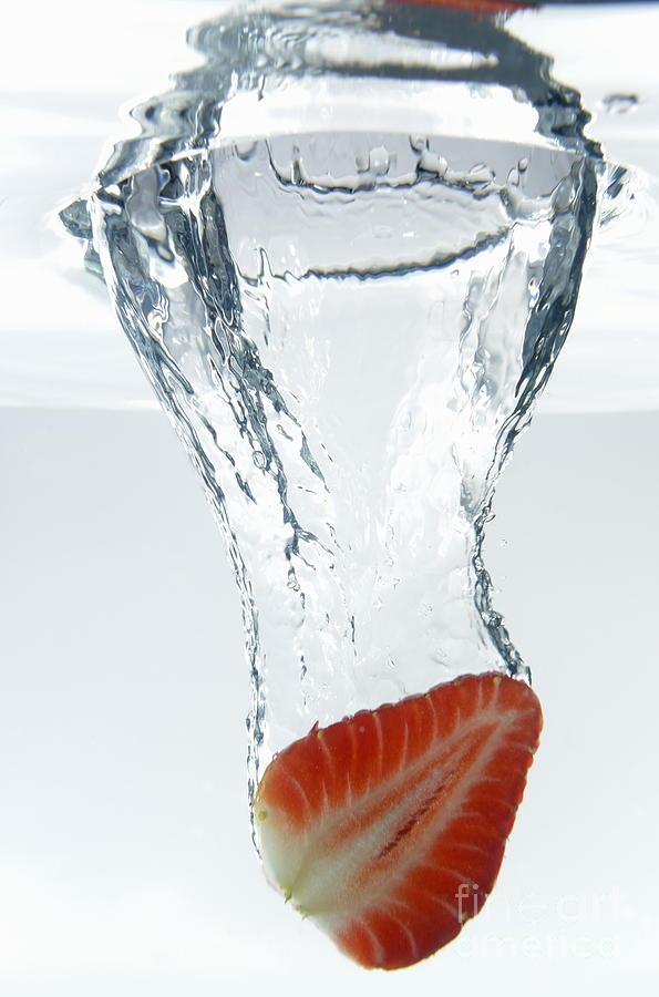 Vitality Photograph - Strawberry Fruit Splashing Underwater by Sami Sarkis