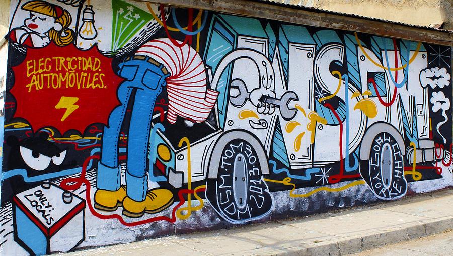 Street Art Photograph - Street Art Valparaiso Chile 15 by Kurt Van Wagner