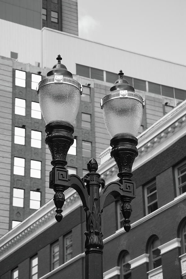 Antique Photograph - Streetlights - Lansing Michigan by Frank Romeo