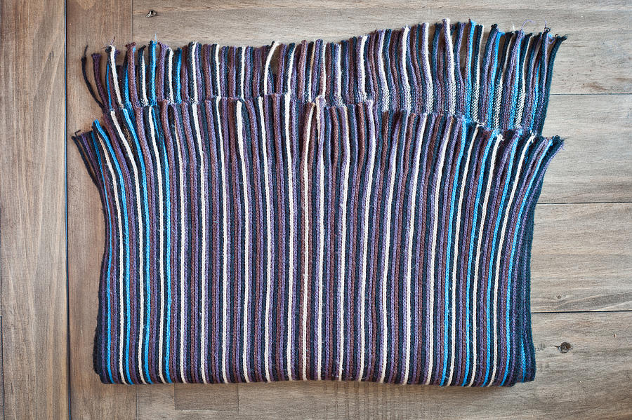 Accessories Photograph - Striped Scarf by Tom Gowanlock