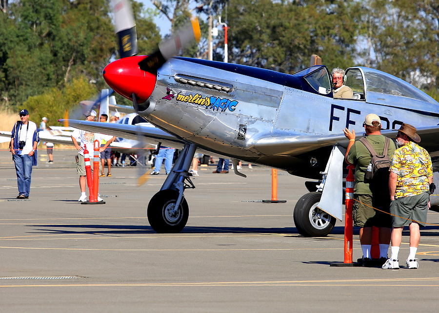 Stu Eberhardt And His P51d Merlins Magic  Photograph by John King