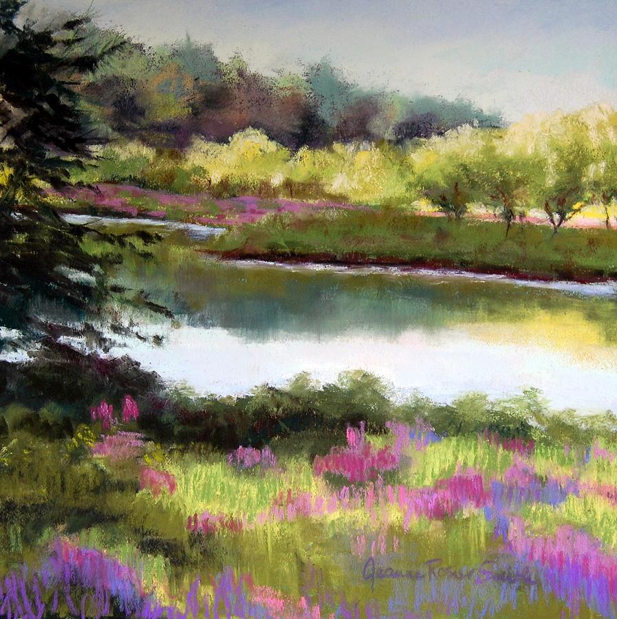 Pastel - Sudbury River by Jeanne Rosier Smith