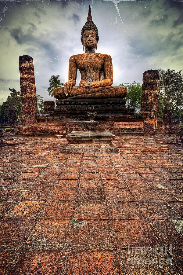 Hdr Photograph - Sukhothai Buddha by Adrian Evans