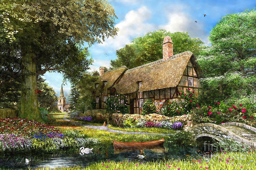 Summer Country Cottage Digital Art By Dominic Davison