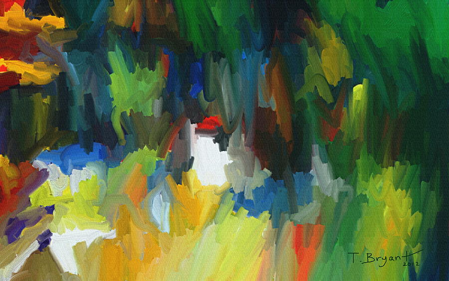 Texture Painting - Summer Garden by Thomas Bryant