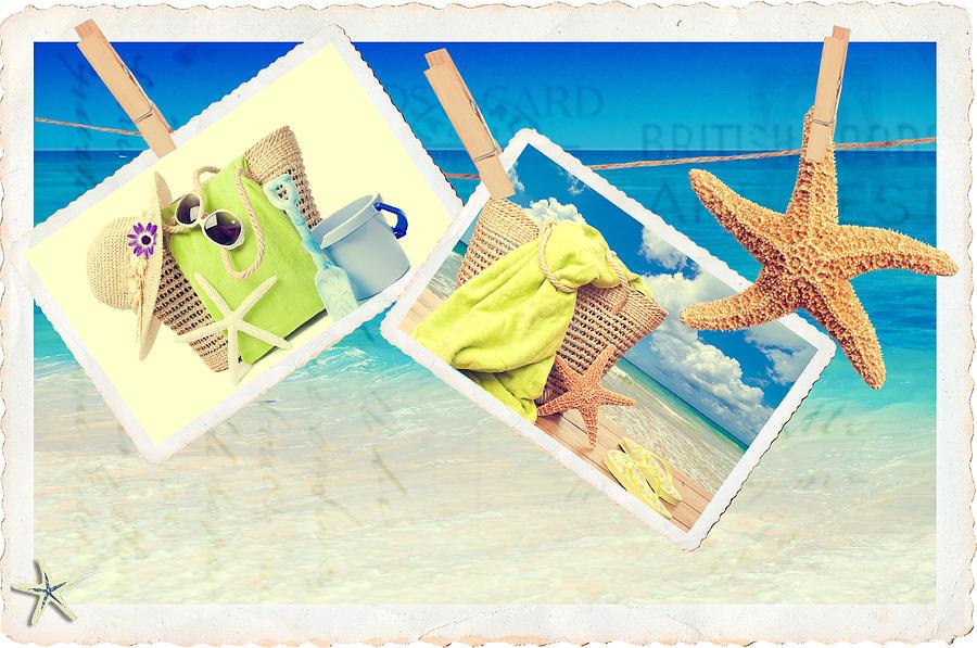 Beach Photograph - Summer Postcards by Amanda Elwell