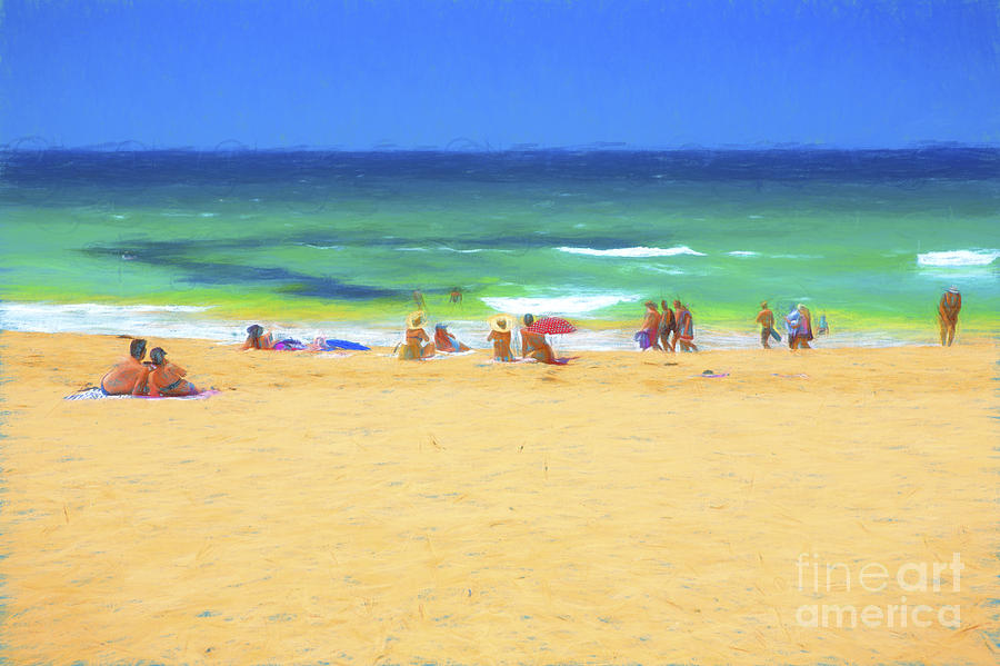 People On Beach Photograph - Summertime by Sheila Smart Fine Art Photography